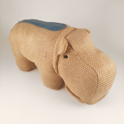 Vintage therapeutic toy hippopotame by Renate Müller