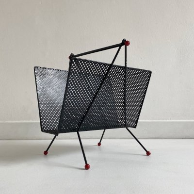 French Metal Magazine Rack, c.1950