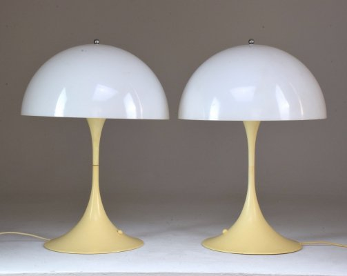20th Century Danish 'Panthella' Table Lamps by Verner Panton for Louis Poulsen, 1970s
