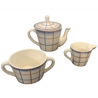 Art Deco Ceramic Tea set by Gio Ponti for Richard Ginori, circa 1930