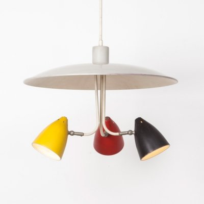 H. Busquet Tri-color Pendant for Hala, 1950s