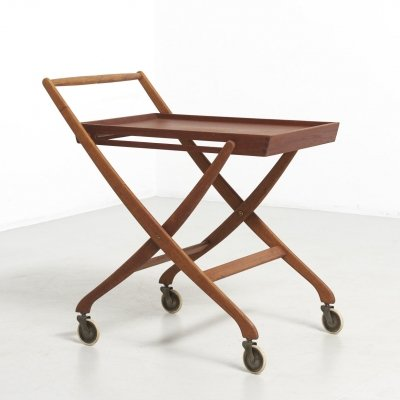 Folding Trolley in Oak & Teak, 1950's