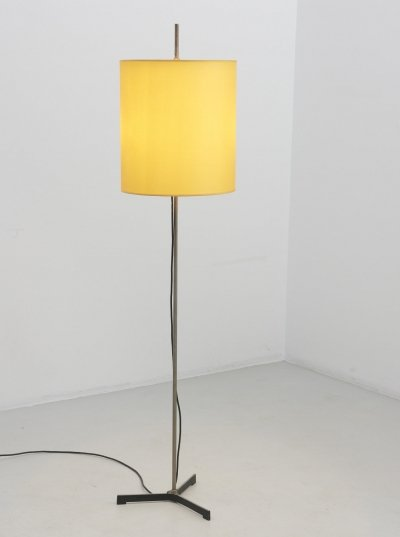 Floor Lamp with Yellow Lamp Shade, 1960's