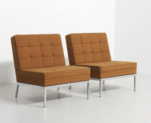 Pair of Easy Chairs by Florence Knoll, United States 1960's