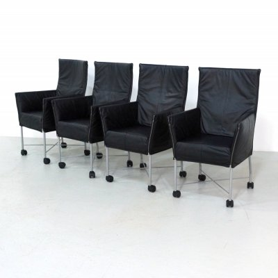 Set of 4 Chaplin dining chairs by Gerard van den Berg for Montis, 1990s