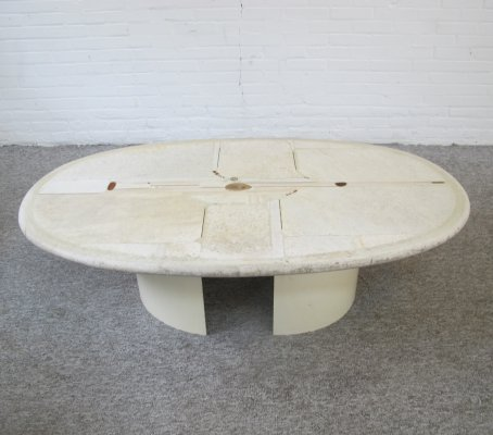 Rare white coffee table by Paul Kingma, 1991