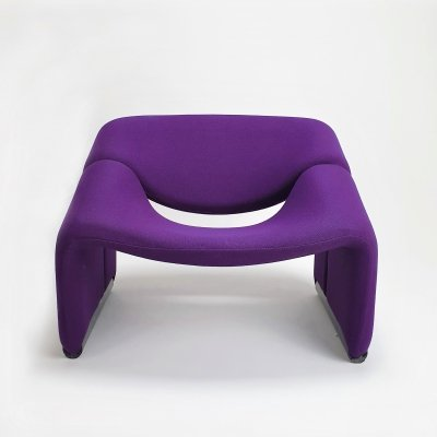Rare Purple F598 Artifort 'Groovy' M-Chair by Pierre Paulin, 1970s