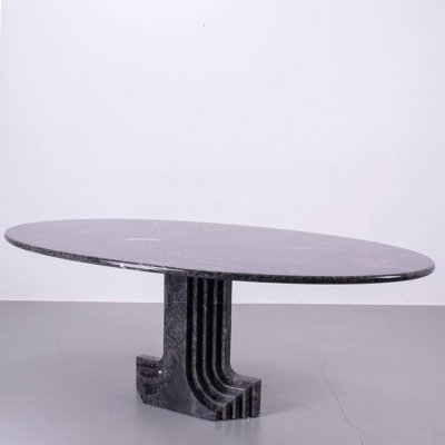 Mid century modern marble dining table by Carlo Scarpa for Cattelan