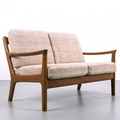 Two seat sofa by Juul Kristensen with the original upholstery