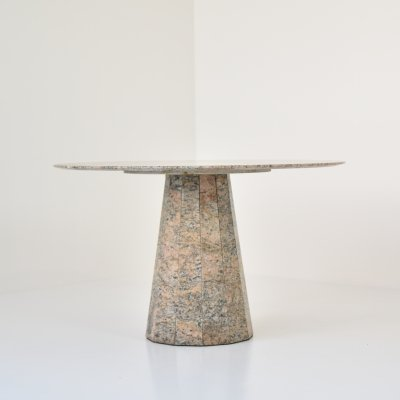 Round dining table in granite, 1970s