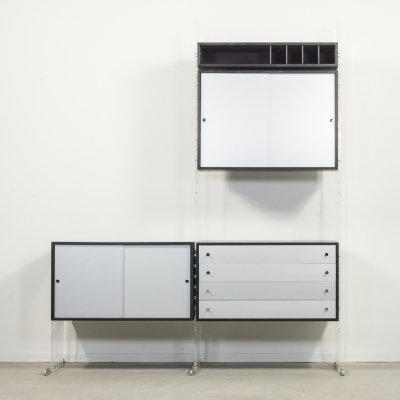Poul Norreklit wall unit-shelving system by Georg Petersen Mobelfabrik