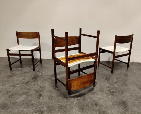 Set of 4 Vintage Pastoe dining chairs, 1960s