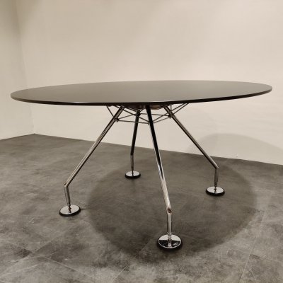 Round Dining Table by Norman Foster for Tecno, 1980s