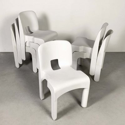 Model 4867 Universale Chairs by Joe Colombo for Kartell, 1970s