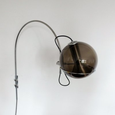 'Sagittarius' Globe Arc wall lamp by Frank Ligtelijn for Raak Amsterdam, 1960's