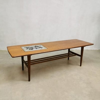 Vintage tile coffee table by Louis van Teeffelen & Jaap Ravelli for Wébé, 1960s