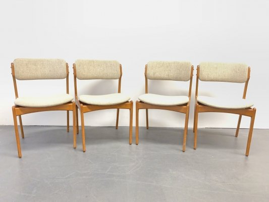 4x Mid Century Teak Chairs Domus Danica by Eric Buch for O. D. Møbler, Denmark 1960s