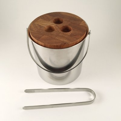 Ice bucket with tongs by Arne Jacobsen for Stelton
