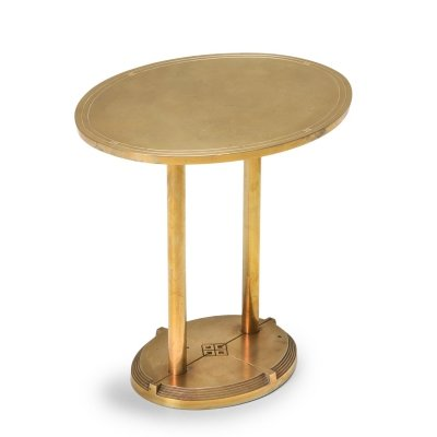 Brass Cast Side Table by Peter Ghyczy, 1980s