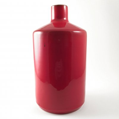 Vintage red ceramic vase by André Freymond, 1970s