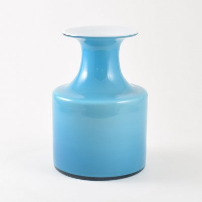 Blue 'Carnaby' vase by Per Lütken for Holmegaard, 1970s
