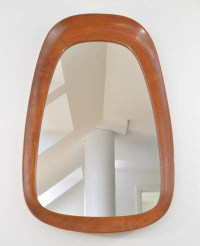 Teak Mirror from Glas & Tra Hovmantorp Sweden, 1950's