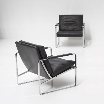 Set of 2 armchairs by Preben Fabricius for Walter Knoll, 1972