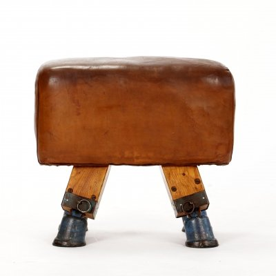 Vintage Czech Turnbock Gym Stool, 1930s