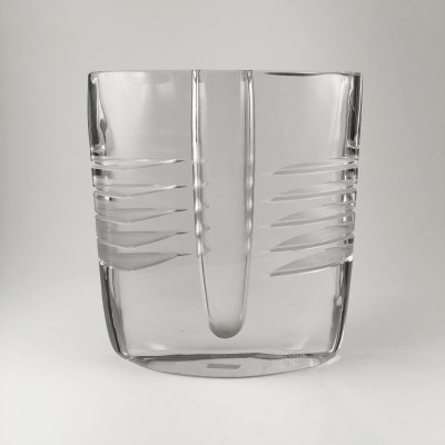 Heavy vintage glass vase by Alfredo Barbini Murano