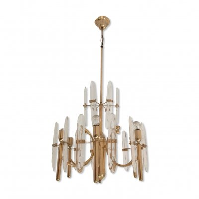 Vintage brass chandelier by Sciolari