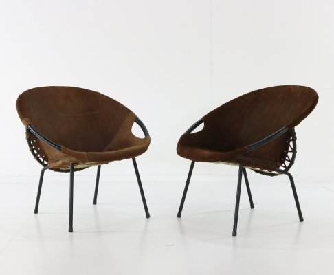 Set of two Lusch Circle Balloon chairs
