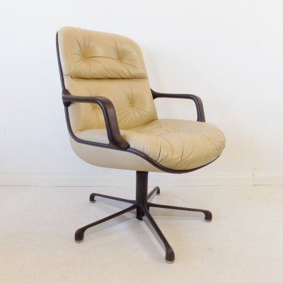 Comforto Executive Highback leather chair by Charles Pollock