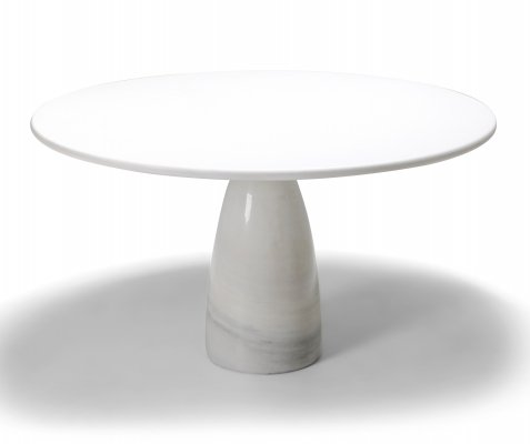 Peter Draenhert white calacatta 'Finale' marble dining table, 1972