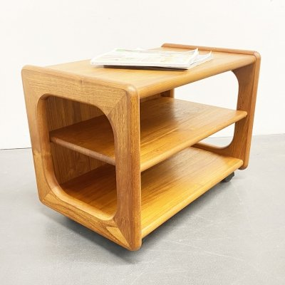 Mid Century TV Rack in Teak Wood by Möbelfabrikken Toften, Denmark 1960s