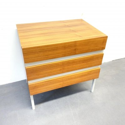 Vintage Chest of Drawers in Teak Veneer & white melamine by Interlübke, 1970s