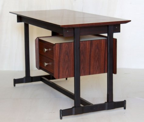 1960s mahogany desk in scandinavian style