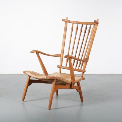 Dutch spokeback chair by De Ster, the Netherlands 1950s