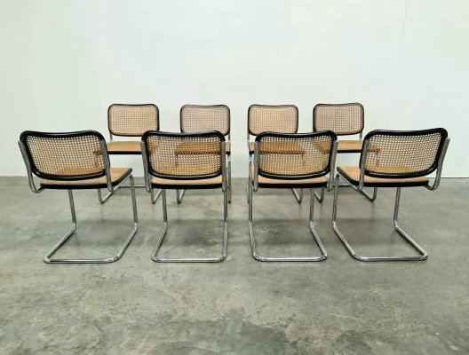 Set of 8 Cesca chairs by Marcel Breuer for Knoll Int., 1960s