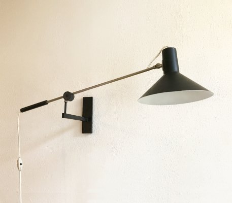 Model 7105 wall lamp by J. Hoogervorst for Anvia Almelo, ca 1960