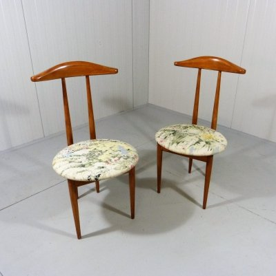 Set of 2 bedroom side chairs / valets, 1950's