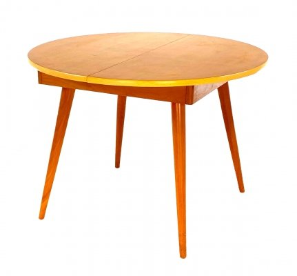 Round Extendable vintage dining table, 1960s