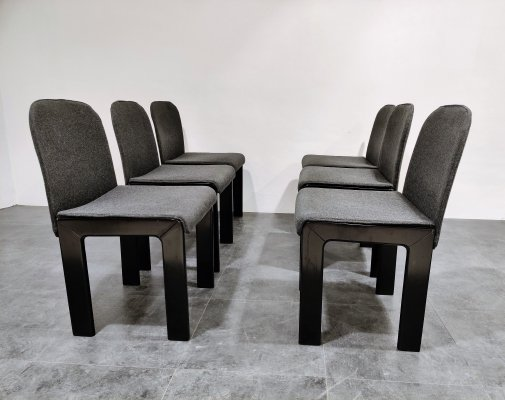 Set of 6 Tobia Scarpa dining chairs model 121, 1970s