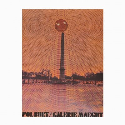 Vintage French Bold Pol Bury Kinetic Galerie Maeght Poster, 1970s