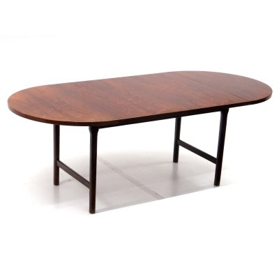 Oval vintage extendable dining table, 1960s