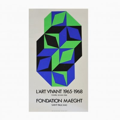 L'art Vivant Fondation Maeght Poster by Victor Vasarely, 1965-1968
