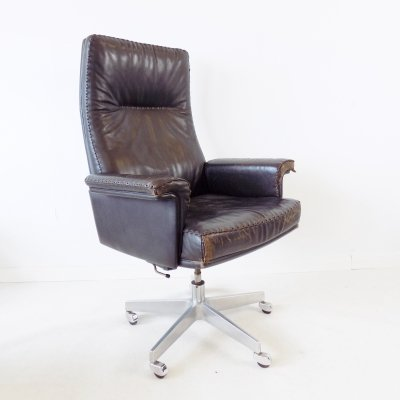 De Sede DS 35 dark brown leather office chair