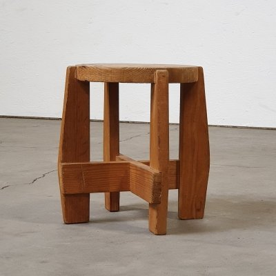Plant or side table from the 60s in solid wood