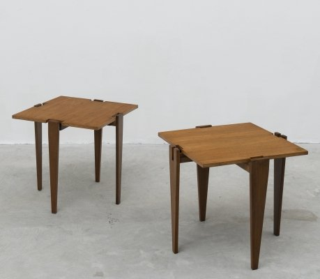 Pair of combinable side tables by Angelo Ostuni & Renato Forti for Frangi Milano, 1957