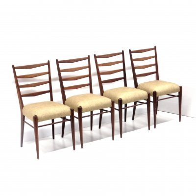 Set of 4 vintage model CB09 dining room chairs by Cees Braakman for Pastoe, 1960s