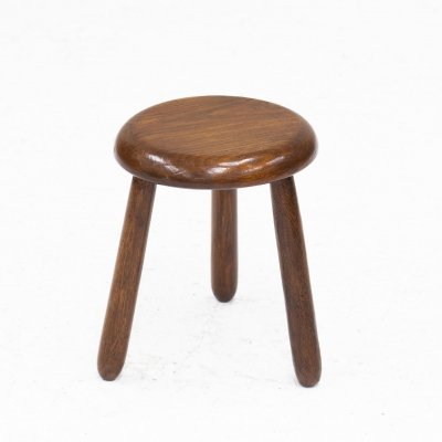 Tripod milking stool from a French farmhouse, 1960's